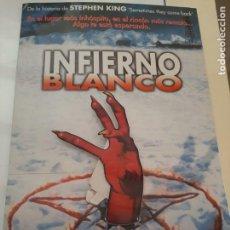 Cine: CARTEL POSTER CARTON INFIERNO BLANCO. STEPHEN KING. ORIGINAL. TROQUELADO.. Lote 247726540