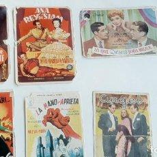 Flyers Publicitaires de films Anciens: LOTE 8 PROGRAMAS CINE( ACTUALIDADES, SESTAO, TRUEBA, CINEMA X, BARACALDO,IDEAL). AÑOS 40. Lote 247763975