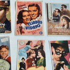 Flyers Publicitaires de films Anciens: LOTE 6 PROGRAMAS DE CINE...PIRATAS DEL ASFALTO, LA CIUDAD DE LOS MUCHACHOS... AÑOS 40. Lote 247765855