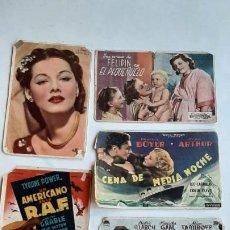 Flyers Publicitaires de films Anciens: LOTE 6 PROGRAMAS CINE...(SESTAO, BARACALDO )... AÑOS 40. Lote 247766800
