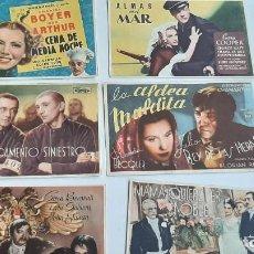 Flyers Publicitaires de films Anciens: LOTE 6 PROGRAMAS CINE...EL PROSCRITO..CENA DE MEDIA NOCHE, ALMAS EN EL MAR, LA ALDEA MALDITA.... Lote 247768985