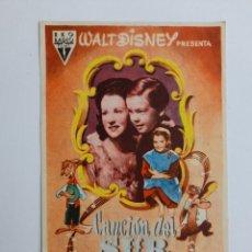 Folhetos de mão de filmes antigos de cinema: SANTANDER. CINE COLISEUM. PROGRAMA DE LA PELÍCULA CANCIÓN DEL SUR.. Lote 247952180