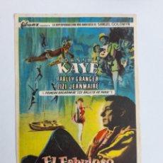Folhetos de mão de filmes antigos de cinema: SANTANDER. CINE COLISEUM. PROGRAMA DE LA PELÍCULA EL FABULOSO ANDERSEN. Lote 247956930