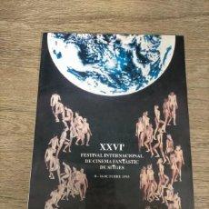 Folhetos de mão de filmes antigos de cinema: CATALOGO FESTIVAL CINE DE TERROR SITGES - 1993. Lote 248009290