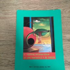 Folhetos de mão de filmes antigos de cinema: CATALOGO FESTIVAL CINE DE TERROR SITGES - 1977. Lote 248009875