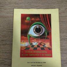 Folhetos de mão de filmes antigos de cinema: CATALOGO FESTIVAL CINE DE TERROR SITGES - 1976. Lote 248010005