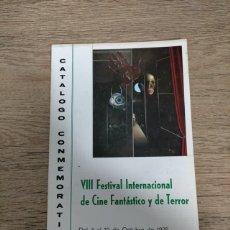 Folhetos de mão de filmes antigos de cinema: CATALOGO FESTIVAL CINE DE TERROR SITGES - 1975. Lote 248010105