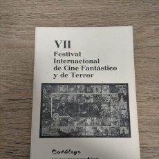 Folhetos de mão de filmes antigos de cinema: CATALOGO FESTIVAL CINE DE TERROR SITGES - 1974. Lote 248010225