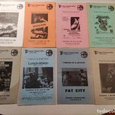 Cine: 8 PROGRAMAS DE CINE CLUB DE LOS AÑOS 80 -LA DILIGENCIA, FAT CITY, PASEO POR EL AMOR Y LA MUERTE...... Lote 248047505