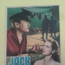 Cine: JACK EL NEGRO GEORGE SANDERS ORIGINAL S.P. BUEN ESTADO. Lote 248053595