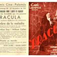 Foglietti di film di film antichi di cinema: DRÁCULA, CON LUPITA TOVAR. FACSÍMIL.. Lote 248499880