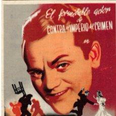 Folhetos de mão de filmes antigos de cinema: PN - PROGRAMA DE CINE - LOS PELIGROS DE LA GLORIA - JAMES CAGNEY - ALIATAR CINEMA (GRANADA) - 1944.. Lote 248578885