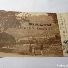 Cine: MAGNIFICO ANTIGUO PROGRAMA DE CINE,TARJETA,LA ULTIMA CITA DEL 1929. Lote 248717695