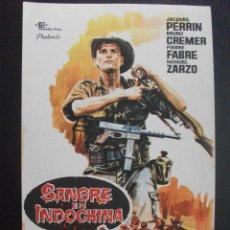 Folhetos de mão de filmes antigos de cinema: SANGRE EN INDOCHINA, JACQUES PERRIN. Lote 249143430