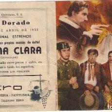 Cine: FOLLETO DE MANO DOBLE - MORENA CLARA. CINE DORADO. ZARAGOZA 1955. Lote 249599580