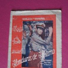 Cine: HONDURAS DE INFIERNO ROBERT MONTGOMERY PROGRAMA DE CINE DOBLE C2. Lote 251275715