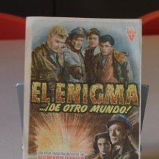 Cine: FOLLETO DE MANO SENCILLO CON PUBLICIDAD *EL ENIGMA...¡DE OTRO MUNDO!* IDEAL CINE/PRINCIPAL. 2 FOTOS. Lote 251888120
