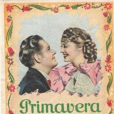 Foglietti di film di film antichi di cinema: PN - PROGRAMA DE CINE - PRIMAVERA - JEANETTE MACDONALD, NELSON EDDY - PRINCIPAL CINEMA (MÁLAGA) 1937. Lote 251946190