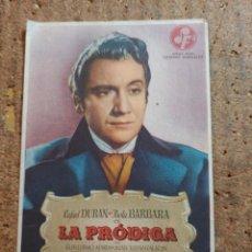 Cine: FOLLETO DE MANO DE LA PELICULA LA PRODIGA CON PUBLICIDAD. Lote 251998765