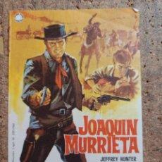 Cine: FOLLETO DE MANO DE LA PELICULA JOAQUIN MURRIETA CON PUBLICIDAD. Lote 252009435