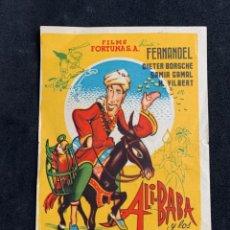 Cine: ALI BABA Y LOS 40 LADRONES - SENCILLO - PUBLICIDAD TEATRO PRINCIPAL (ALCOY). Lote 252190460