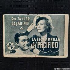 Cine: LA ESCUADRILLA DEL PACÍFICO / KENT TAYLOR RAY MILLAND / PUBLICIDAD UNIVERSAL FILMS ESPAÑOLA S.A.. Lote 252261270
