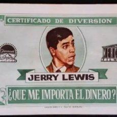 Cine: PROGRAMA DE MANO DE LA PELÍCULA CON JERRY LEWIS. AÑOS 60. LEER DESCRIPCIÓN ANTES DE PUJAR.. Lote 252296045