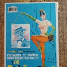 Cine: FOLLETO DE MANO DE LA PELICULA LOS BALLETS DE PARIS. Lote 252360545