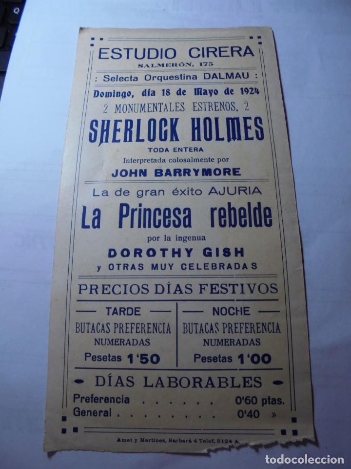 Cine: magnifico antiguo programa de cine la princesa rebelde del 1924 - Foto 4 - 252646750