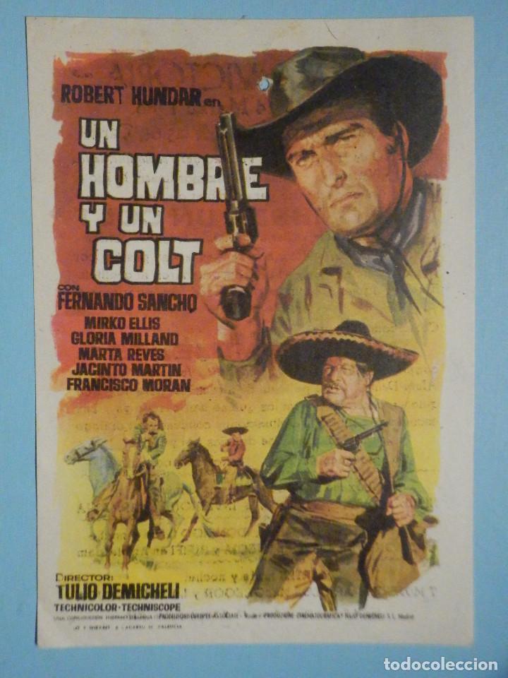 FOLLETO DE MANO PELÍCULA, FILM, LARGOMETRAJE - UN HOMBRE Y UN COLT - CINEMA VICTORIA - 1968 (Cine - Folletos de Mano - Westerns)
