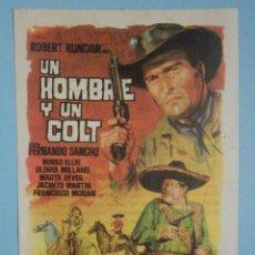 Cine: FOLLETO DE MANO PELÍCULA, FILM, LARGOMETRAJE - UN HOMBRE Y UN COLT - CINEMA VICTORIA - 1968. Lote 252688735