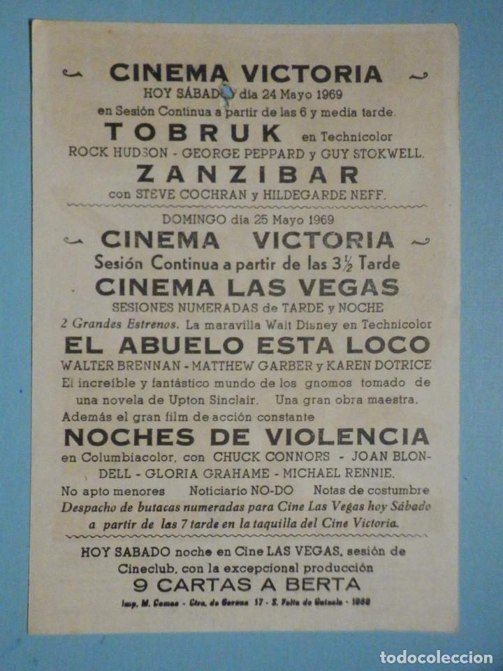 Cine: Folleto de mano película, Film, Largometraje - Noche de violencia - Cinema Victoria - Foto 2 - 252689905