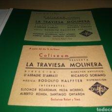 Cine: LOTE DE DOS RAROS PROGRAMAS DE CINE ÁLBUMES. LA TRAVIESA MOLINERA. Lote 253027430