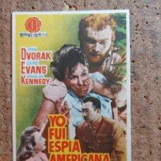 Cine: FOLLETO DE MANO DE LA PELÍCULA YO FUI ESPÍA AMERICANA CON PUBLICIDAD. Lote 253118855