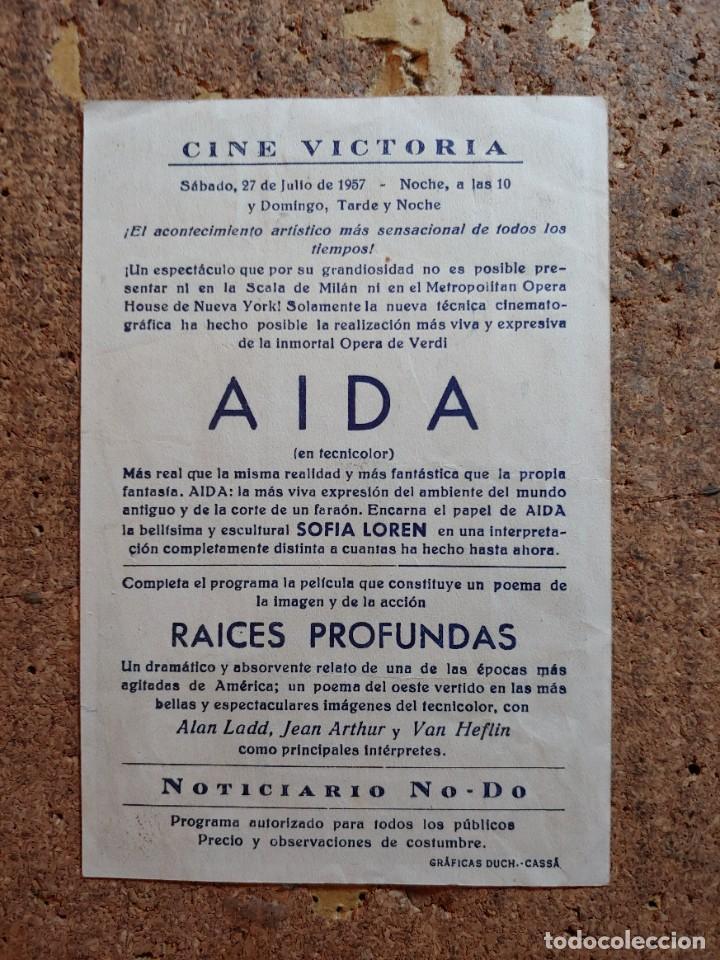 Cine: FOLLETO DE MANO DE LA PELICULA RAICES PROFUNDAS CON PUBLICIDAD - Foto 2 - 253147915