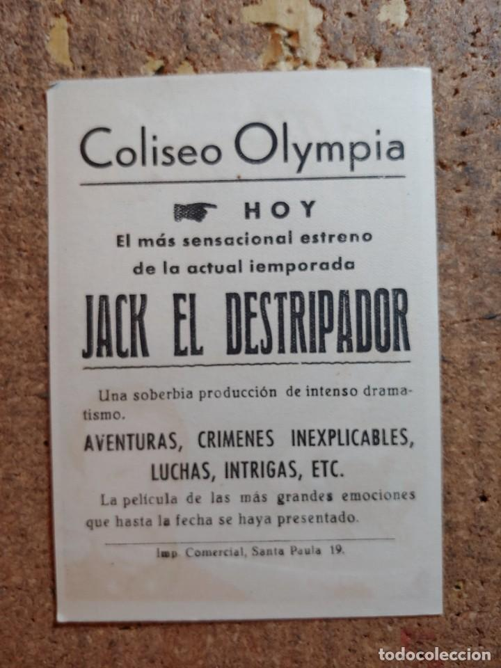 Cine: FOLLETO DE MANO DE LA PELICULA JACK EL DESTRIPADOR CON PUBLICIDAD - Foto 2 - 253148085