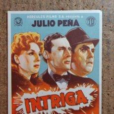 Cine: FOLLETO DE MANO DE LA PELICULA INTRIGA CON PUBLICIDAD. Lote 253149000