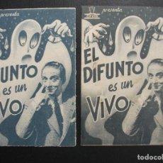 Cine: EL DIFUNTO ES UN VIVO, ANTONIO VICO, VARIANTE. Lote 253277585