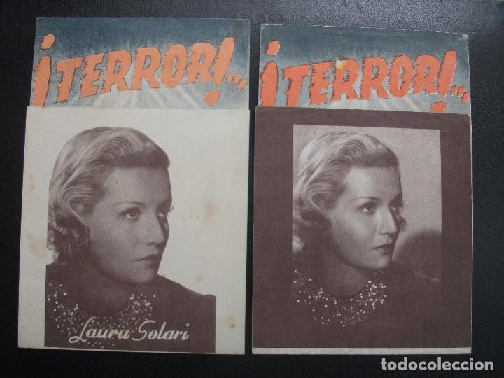 TERROR!, LAURA SOLARI, VARIANTE (Cine - Folletos de Mano - Drama)