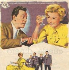 Folhetos de mão de filmes antigos de cinema: PN - PROGRAMA DE CINE - SOÑAR NO CUESTA DINERO - VERA ELLEN, TONY MARTIN - CINE ECHEGARAY (MÁLAGA). Lote 253603960