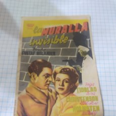 Cine: FOLLETO DE MANO LA MURALLA INVISIBLE AÑO 1947 CINE ASTORIA. Lote 253741695