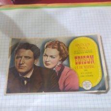 Cine: FOLLETO DE MANO EDISON EL HOMBRE AÑO 1945 CINE ASTORIA. Lote 253742375