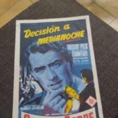 Cine: FOLLETO DE MANO DECISION A MEDIANOCHE CINE MUNDIAL. Lote 253745165