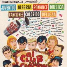 Cine: EL CLUB DE LA CANCION .- JOHNY TEDESCO. Lote 253808240
