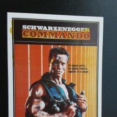 Flyers Publicitaires de films Anciens: COMMANDO ARNOLD SCHWARZENEGGER IMPRESO EN LOS AÑOS 80. Lote 253809670