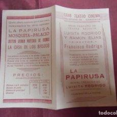 Cine: CARAVACA(MURCIA) GRAN TEATRO CINEMA.FUNCION PARA EL 3 MAYO DE 1941.. Lote 253824290