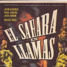 Cine: EL SAHARA EN LLAMAS .- JEAN SERVAIS. Lote 253862100