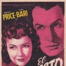 Flyers Publicitaires de films Anciens: EL SUSTO .- VICENT PRICE. Lote 253862985