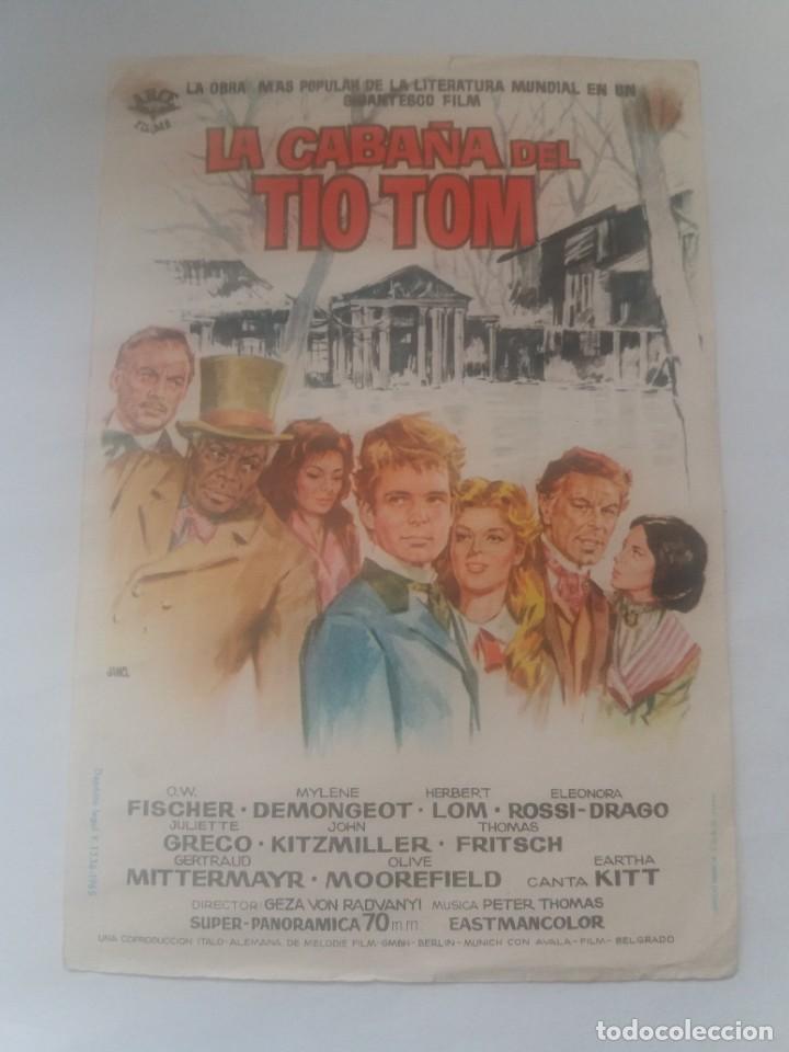LA CABAÑA DEL TÍO TOM (Cine - Folletos de Mano - Infantil)