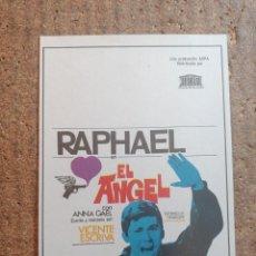 Cine: FOLLETO DE MANO DE LA PELICULA EL ANGEL. Lote 253943045